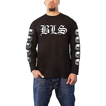 أسود تسمية المجتمع تي قميص SDMF باند شعار جديد الرسمية الرجال الأسود Longsleeve