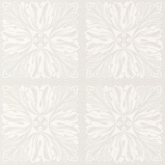 Glitter Whites Floral Square Pattern Textured Wallpaper - Direct Wallpapers J85700