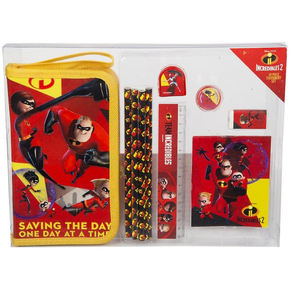 Incredibles 10 Piece Stationary Set