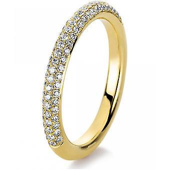 Diamantring-14K 585/-gul guld-0,41 CT. Størrelse 54