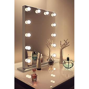 Diamante X Catalunha borda prateada Hollywood banheiro espelho de maquiagem