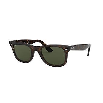 راي بان الأصلي Wayfarer RB2140 902 السلحفاة / كريستال النظارات الشمسية الخضراء