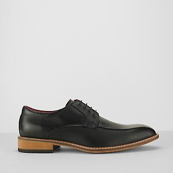 Azor Palazzo Mens Leather Derby Shoes Black