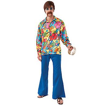 Groovy Go-Go 1960 hippie hippy men costume plus XL
