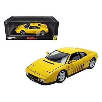 1989 Ferrari 348 TB Yellow Elite Edition 1/18 Diecast Car Model par Hotwheels