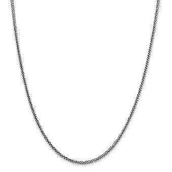 14 k Weißgold 2,35 mm Halb solide 3 Draht Weizen Kette Halskette Schmuck Geschenke für Frauen - Länge: 16 bis 24
