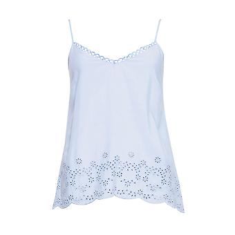Cyberjammies 4402 Women's Olivia Blue Modal Bordado Cami Pyjama Top