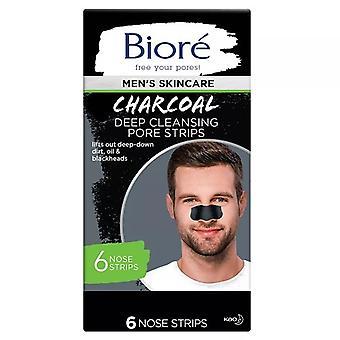 Bioré Men's Skincare Charcoal Deep Cleansing Pore Strips