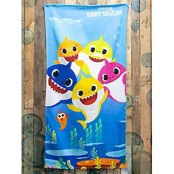 Baby Shark Underwater Beach Towel