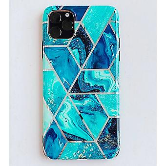 Mobile shell for iPhone 11 with blue marble pattern