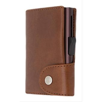 C-Secure Vegetable Tanned Leather XL Card Holder Wallet - Macchiato Tan