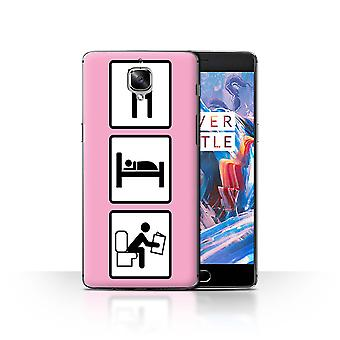 STUFF4 Case/Cover for OnePlus 3/3T/Poop/Pink/Eat/Sleep