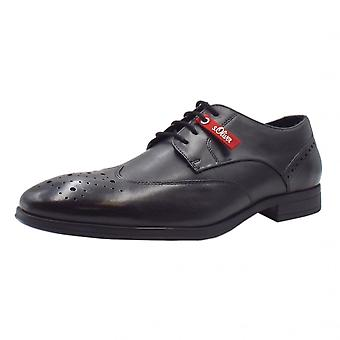 S.Oliver Jerome Men's 13205 Smart Lace-up Shoes In Black