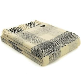 Tweedmill Pure New Wool Meadow Check Slate Throw