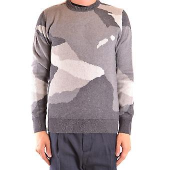 Woolrich Ezbc033054 Men's Grey Wool Sweater