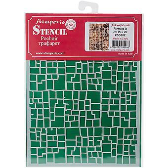 """Efeito de estêncil Stamperia D 7.87 """"X5.91""""-parede"""