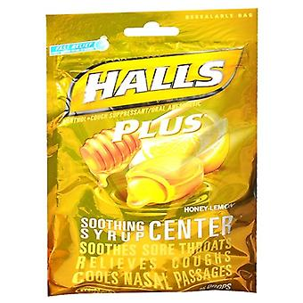 Halls plus drops, honey lemon, 25 ea