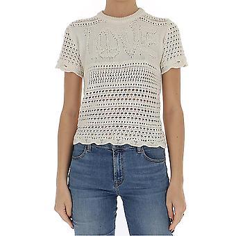 Amiri Y0w05261crivory Women's White Cotton T-shirt