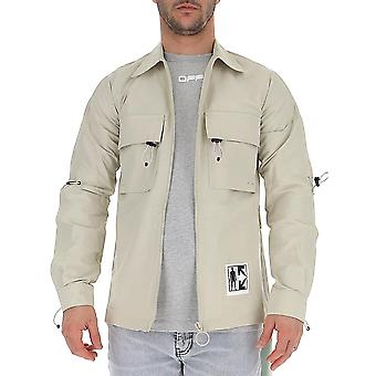 Off-white Omga112s20h910130610 Men's Beige Cotton Outerwear Jacket