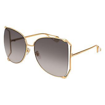 Gucci GG0252S 002 Gold/Grau Gradient Sonnenbrille