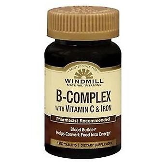 Windmill b-complex with vitamin c and iron, tablets, 100 ea
