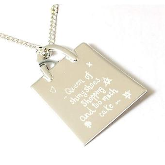"""""""Juicy Lucy"""" Shopping Bag Necklace"""