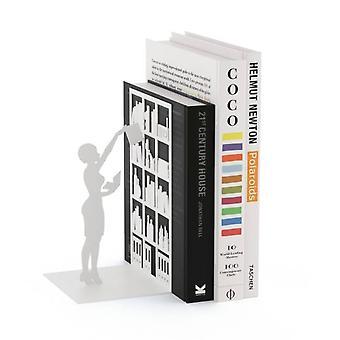 Serre-livre blanc-bibliothèque