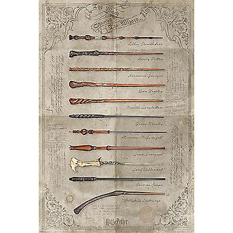 Harry Potter Wands Poster