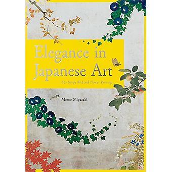 Elegance of Japanese Art - Edo Rimpa Bird and Flower Painting by Momo