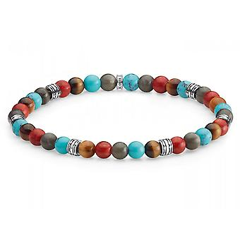 Thomas Sabo Multicolour Lucky Charm Beaded Bracelet