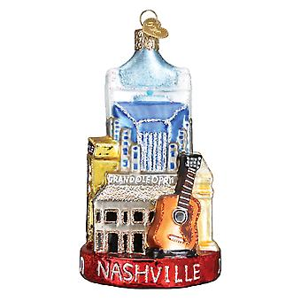 Old World Christmas City of Nashville Tennessee Holiday Ornament