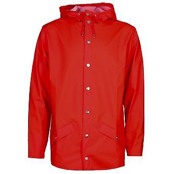 Veste à capuchon rouge Rains