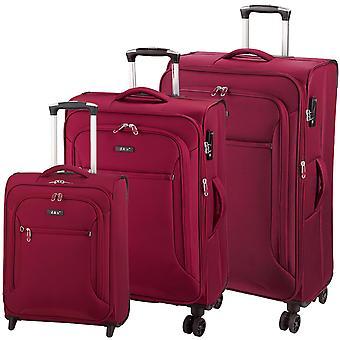 d&n Travel Line 6404 Koffer Set 3-teilig S-M-L, Rot