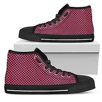 High Top Shoes | Black and Pink Checkers