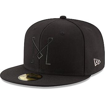 العصر الجديد 59Fifty قبعة المجهزة - بلاك MLS انتر ميامي
