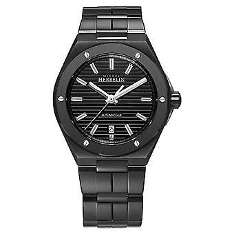 Michel Herbelin Men's Cap Camarat | Automatisch | Black Steel Armband 1645/BN14 Horloge