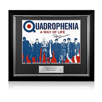 Phil Daniels Signed Quadrophenia Poster: A Way Of Life. Deluxe Framed