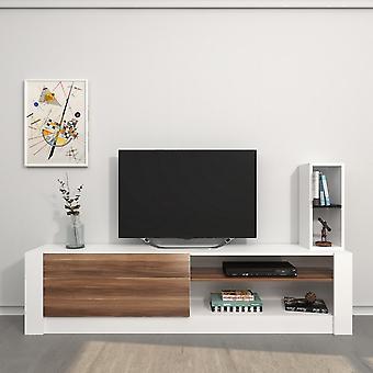 Mobiele tv-deur Gomez Kleur wit, hout in Melaminic Chip 180x30x43 cm, 20x20x55 cm