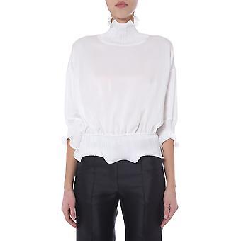 Givenchy Bw60l110f4130 Women's White Viscose Blouse