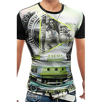Mænds sommer t-shirt Stretch Slim Fit Club slid Mesh Venice Beach Bar