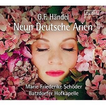 Händel / Schoder / Hofkapelle - Handel: Ni tyske Arias [CD] USA import