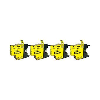 RudyTwos 4x Replacement for Brother LC-1240Y Ink Unit Yellow Compatible with DCP-J525W, DCP-J725DW, DCP-J925DW, MFC-J430W, MFC-J5910DW, MFC-J625DW, MFC-J6510DW, MFC-J6710DW, MFC-J6910DW, MFC-J825DW