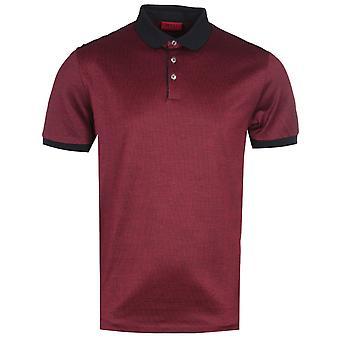 HUGO Doga Pima Baumwolle Burgund Polo Shirt