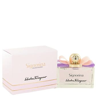 Signorina Eau De Toilette Spray By Salvatore Ferragamo 3.4 oz Eau De Toilette Spray