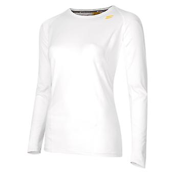 TribeSports Kvinnor & s LS Run Top Vitt Medium