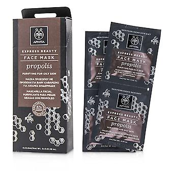 Express beauty face mask with propolis (purifying for oily skin) 230843 6x(2x8ml)