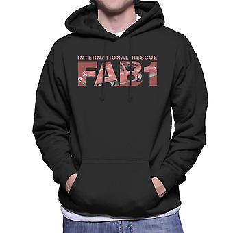 Thunderbirds International Rescue Fab 1 Män & apos, hooded sweatshirt