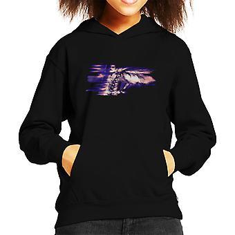 Freddie Mercury Of Queen Its A Hard Life Shoot 1984 Purple Flare Kid's Hooded Sweatshirt