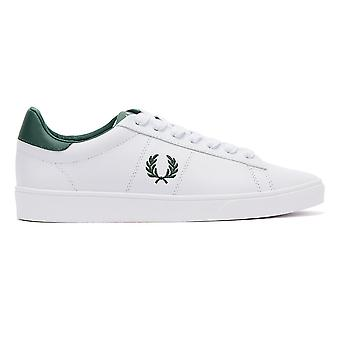 Fred Perry Spencer Leather Mens White / Green Trainers