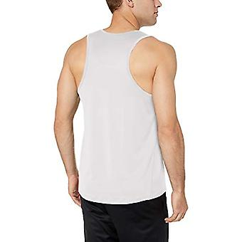 Essentials Men's Tech Stretch Performance Tank Top Shirt, White, X-Large